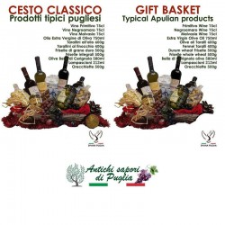 Gift basket of typical apulian product